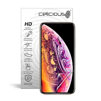 Celicious Vivid Invisible Glossy HD Screen Protector Film Compatible with Apple iPhone XS Max [Pack of 2]
