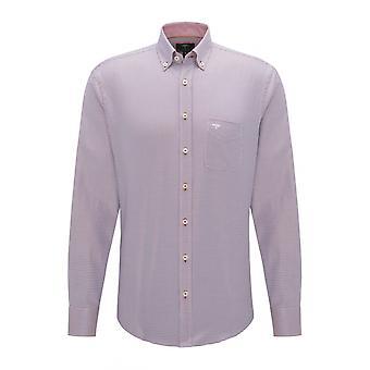 Fynch-Hatton Fynch Hatton 2-tone Pepita Shirt Terra-blue