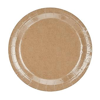 6 Kraft Paper Party Plates - 23cm