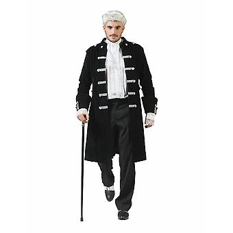 Baroque Comte Casanova Costume Homme Pirate Capitaine Officier Officier Homme