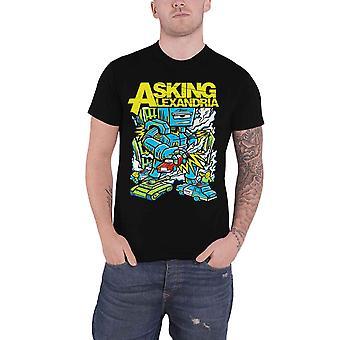 Pytania o Aleksandrii T Shirt Killer Robot zespół Logo Nowy oficjalny męskie czarny