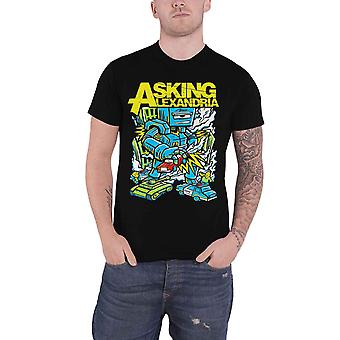 Pedindo nova Alexandria T camisa Killer Robot Band logotipo oficial Mens Black