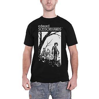 Edward Scissorhands T Shirt Hilltop Illustration new Official Mens Black