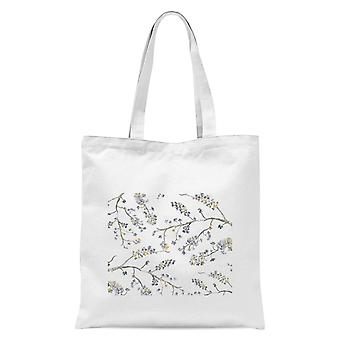 Forget Me Not Branches Tote Bag - White