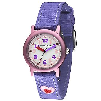 JACQUES FAREL Eco Kids Wristwatch Analog Quartz Girl ORG 9999 Heart