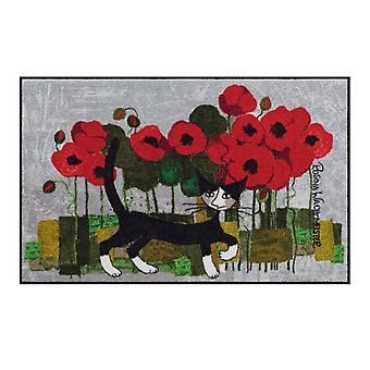 Rosina Wachtmeister deurmat levensstijl Poppywalk 75 x 120 cm, SLD1095-075 x 120