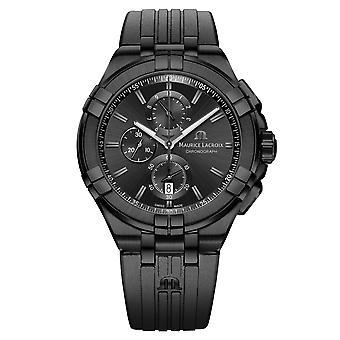 Maurice Lacroix AI1018-PVB01-333-1 Men's Aikon Chronograph Wristwatch