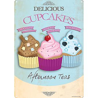 Grindstore Delicious Cupcakes Tin Sign