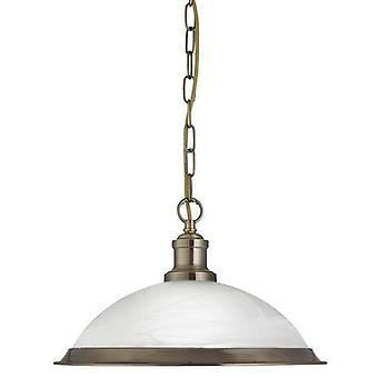 Bistro Pendant Light With Acid Glass Shade