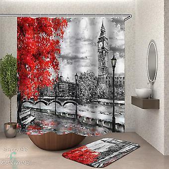 Art Fall London Shower Curtain