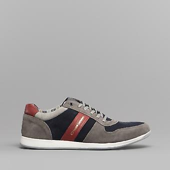 Base London Eclipse Mens Suede Trainers Grey/navy