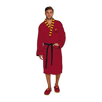 Harry Potter Bathrobe Wheres Harry Glasses and Lightening new Official Mens Red