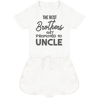 The Best Brothers Get Promoted To Uncle Baby Playsuit