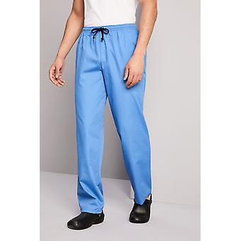 SIMON JERSEY Essentials Unisex Lightweight Scrub Trousers, Hospital Blue