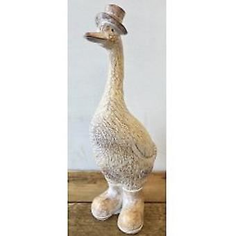 Duck With Hat Figurine