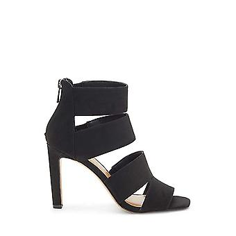 Jessica Simpson Cerina Black Supreme Suede Open Toe Single Sole Fitted Sandals