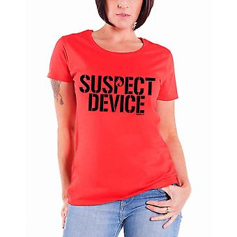 Stiff Little Fingers T Shirt Suspect Device new Official Womens Skinny Fit Red