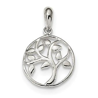 15.6mm 925 Sterling Silver Polished Tree Pendant Necklace Jewelry Gifts for Women - 1.4 Grams