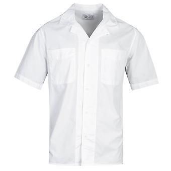 Albam Revire Kołnierz Biały krótki rękaw Koszula