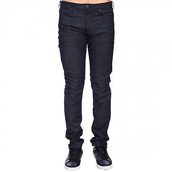 Emporio Armani J06 Slim Fit Dark Blue Chambray Jeans 3G1J06 1D5PZ