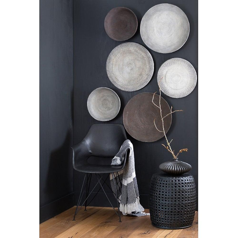 Light & Living Side Table 41x45cm Paton Rattan Black