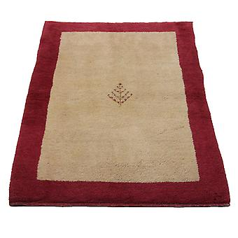 Ręcznie związany perski dywan Gabbeh Shiraz Creme/Czerwony 105x136cm