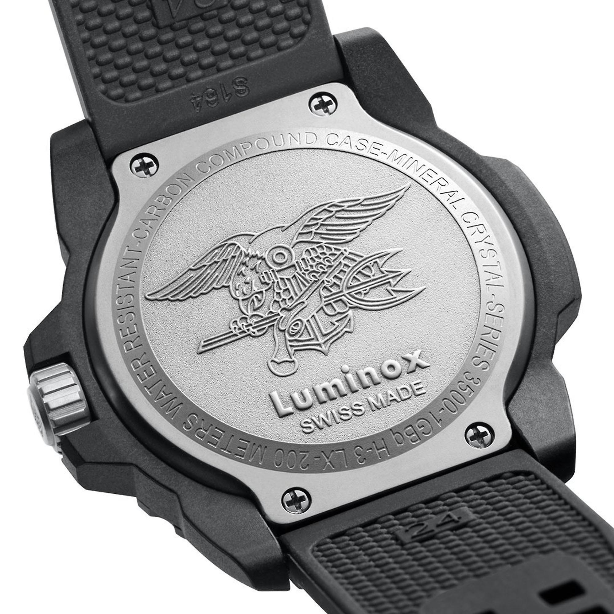 Luminox Navy SEAL Quartz Black Dial Rubber Strap Men's Watch XS.3501 RRP £349