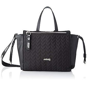 MTNG MTNGBETONG Women Shoulder bagBlack (Nylon/Lis Black) 14x25x36 centimeters (W x H x L)