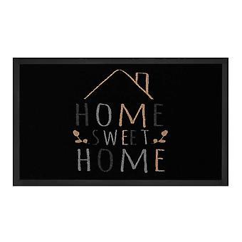Atrapa la suciedad del cojín hogar dulce hogar negro crema 45 x 75 cm