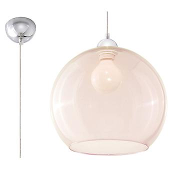 Sollux BALL 1 Light Glass Dome Plafond Champagne, Chrome SL.0249
