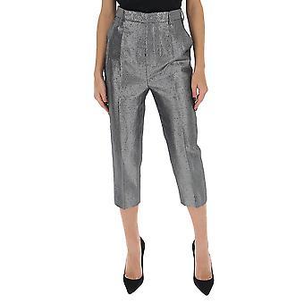 Rick Owens Rp20s1309sk18 Women's Silver Wool Pants