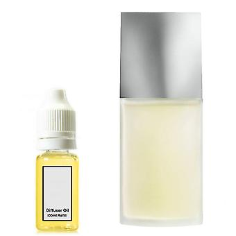 Issey Miyake For Him Inspired Fragrance 100ml Refill Essential Diffuser Oil Burner Scent Diffuser