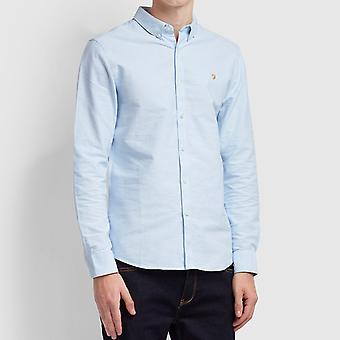 Farah Brewer Slim Shirt - Sky Blue