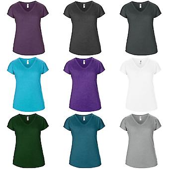 Anvil Womens/Ladies Short Sleeve Tri-Blend V-Neck T-Shirt