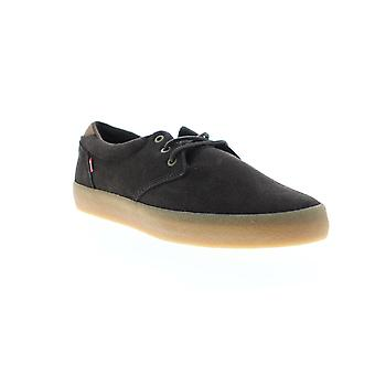 Globe Winslow  Mens Brown Suede Lace Up Athletic Skate Shoes