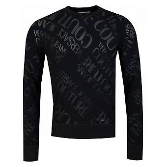 Versace Jeans Couture All Over Couture Logo Jumper