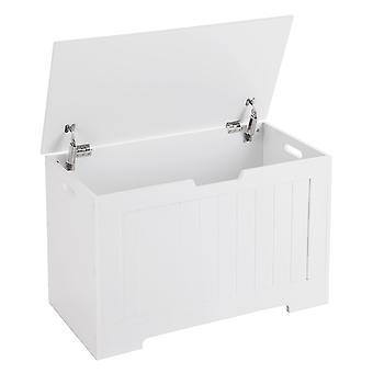 Valkoinen säilytys laatikko-76 cm