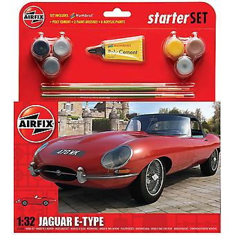 Airfix A55200 1:32 Scala Jaguar E-Type Starter Set Modello Kit
