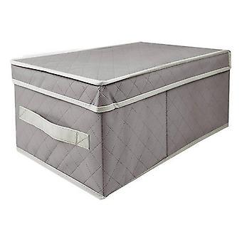Förvaringslåda med lock confortime duk (18 X 33 x 15 cm)