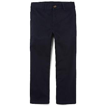 The Children's Place Boys' Husky Uniform Chino Pants,, New Navy, Size 12 Husky