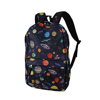 Colorful Space Planets and Rocket Ships Backpack