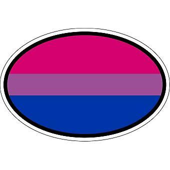 Naklejka naklejka owalny owalny kod flagi biseksualny kraj biseksualny