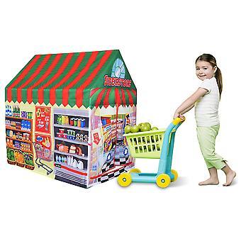 Charles Bentley Supermarkt/Shopping Food Store Spielzelt Wendy House Playhouse Den