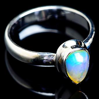 Natural Ethiopian Opal Ring Size 9.25 (925 Sterling Silver)  - Handmade Boho Vintage Jewelry RING4892