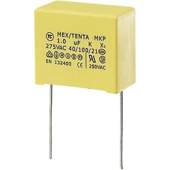 TRU COMPONENTS MKP-X2 1 szt. MKP-X2 kondensator tłumiący Przewód chłodniowy 1 μF 275 V AC 10 % 22,5 mm (L x W x H) 26,5 x 14 x 20 mm