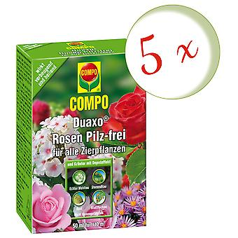 Sparset: 5 × COMPO Duaxo® الورود خالية من الفطر لجميع نباتات الزينة، 50 مل