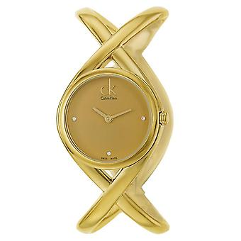 Calvin Klein K2L24513 Enlace Champagne Dial Ladies Watch