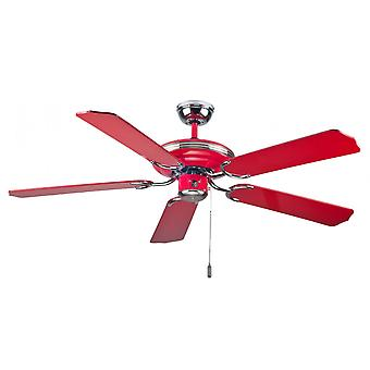 Ceiling fan Mona Rosso with pull cord 132cm / 52