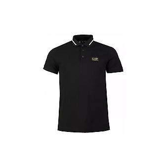 EA7 Emporio Armani Cotton Black Polo Shirt