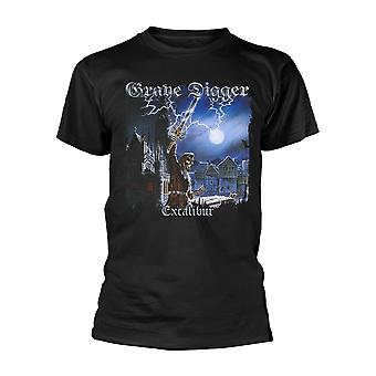 Grave Digger Excalibur Ufficiale Tee T-Shirt Mens Unisex